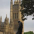Churchill Statue, London by MagsWilliamson