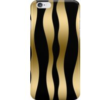 Black and gold abstract zebra srtipes iPhone Case/Skin