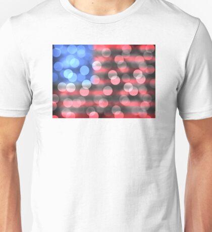 us flag bokeh Unisex T-Shirt