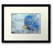 Merry Christmas blues Framed Print