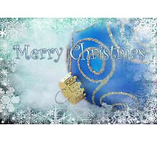 Merry Christmas blues Photographic Print