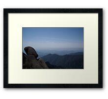 Reclining Framed Print