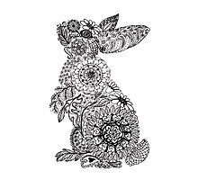 Doodle Bunny Photographic Print