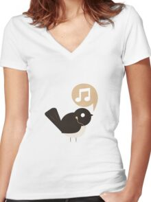 SweetyBird - shufflebird Women's Fitted V-Neck T-Shirt