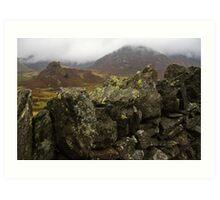 Dry stone wall, Cumbria, England Art Print