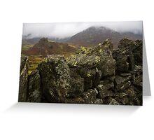 Dry stone wall, Cumbria, England Greeting Card
