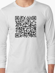 QR Code Quote - Technology Has Exceeded Our Humanity Long Sleeve T-Shirt