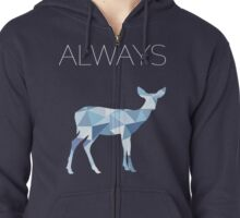 Harry Potter Always geometric doe patronus Zipped Hoodie