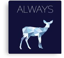 Harry Potter Always geometric doe patronus Canvas Print