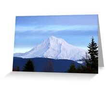 Late afternoon Mt. Hood Greeting Card