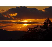 Another golden evening in Oregon Photographic Print