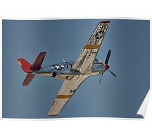 "P-51C Mustang ""INA The Macon Belle"" In Flight Poster"