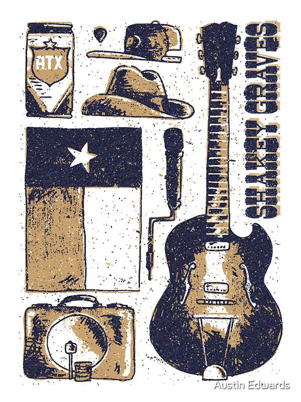 Quot Shakey Graves Poster Quot Stickers By Austin Edwards Redbubble