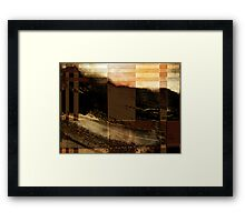 ridge view... through a split screen of improbability Framed Print