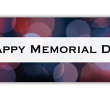 happy memorial day (bokeh) Sticker