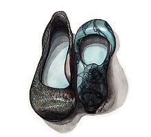 Sea Patterned Shoes by hivernoir