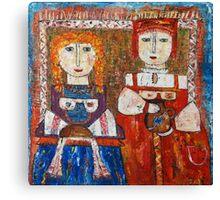 """Bread and milk""  Canvas Print"