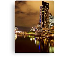 Melbourne at Night 1963 Canvas Print