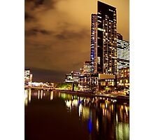 Melbourne at Night 1963 Photographic Print