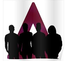 Bastille Triangle And Band Poster
