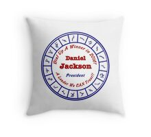 Daniel Jackson: A Man For the Times Throw Pillow