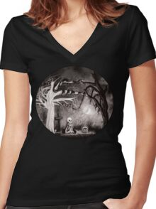 rest in expectation Women's Fitted V-Neck T-Shirt