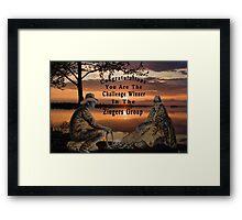 (◡‿◡✿) (◕‿◕✿) ZINGERS CHALLENGE BANNER(◡‿◡✿) (◕‿◕✿) Framed Print