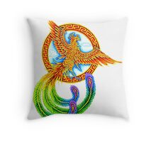 Chinese Vermilion Bird Throw Pillow