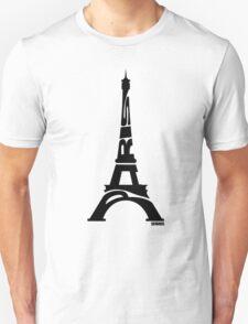 Paris Eiffel Tower Black T-Shirt
