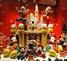 Window dressing for Christmas at Disneyland, Hong Kong. by Ralph de Zilva