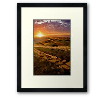 Sunrise On Mam Tor Derbyshire Framed Print
