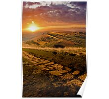 Sunrise On Mam Tor Derbyshire Poster