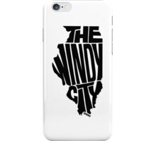 Chicago: The Windy City Black iPhone Case/Skin