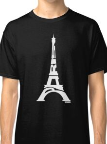 Paris Eiffel Tower White Classic T-Shirt
