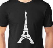 Paris Eiffel Tower White Unisex T-Shirt