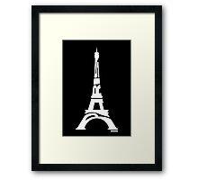 Paris Eiffel Tower White Framed Print
