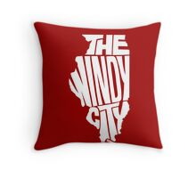 Chicago: The Windy City White Throw Pillow