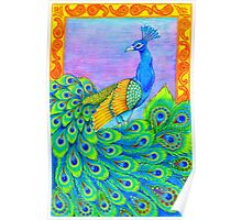 Paisley Peacock Poster