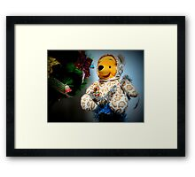 Christmas preparations...by Teddy yellow Framed Print