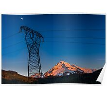 Mount Hood Power Poster