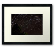 Spectacular Startrails Framed Print