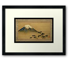 theview of mt fuji Framed Print