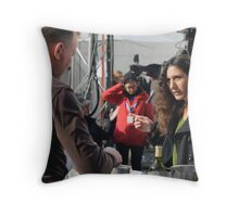 Direction! Place Saint-Jean, Lyon, France Throw Pillow