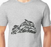 Dolphin Tribal Tattoo Unisex T-Shirt
