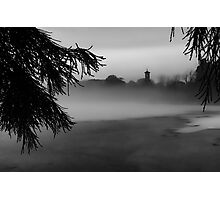 The Clocktower smothered in Fog Photographic Print