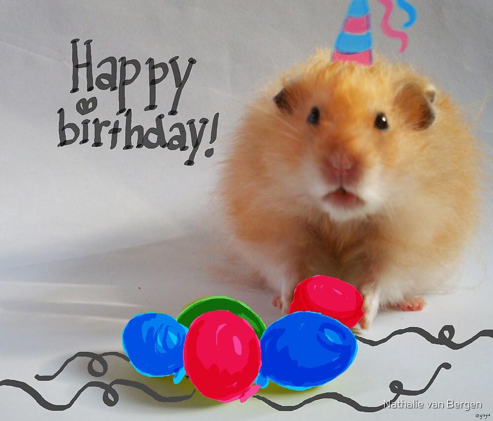 Happy Birthday Hamster by Nathalie van Bergen