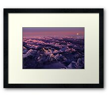 First Light - Assiniboine Framed Print