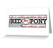 The Red Pony Greeting Card