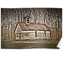 Old School House Barn in Avon Poster