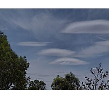 Lenticular Clouds over Yarrawonga Photographic Print